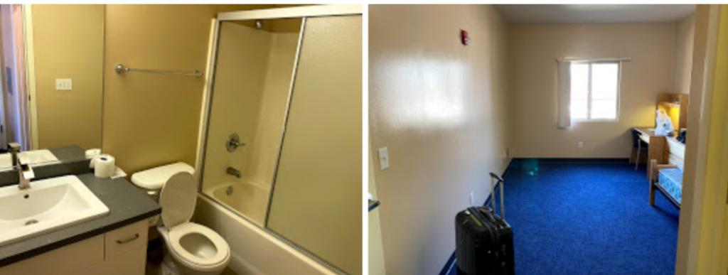 学生寮の自部屋とトイレ